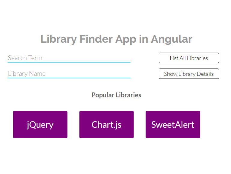 Library finder app HomeComponent