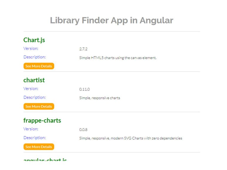 Library finder app LibrayListComponent