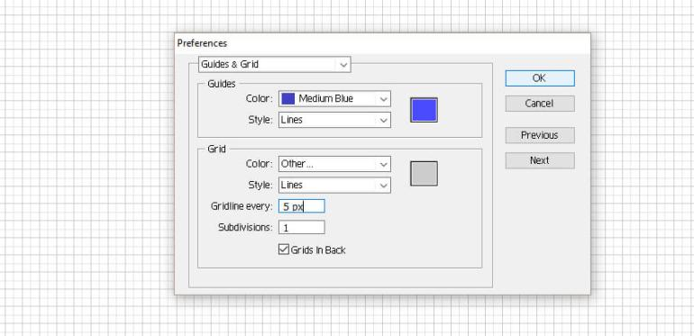 grid options window