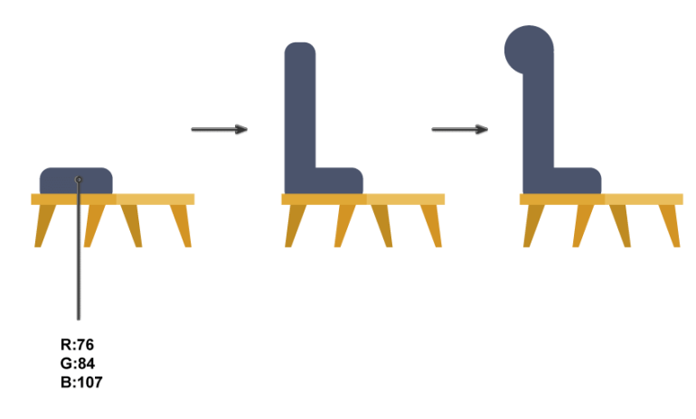how to create the  cushions of the chair