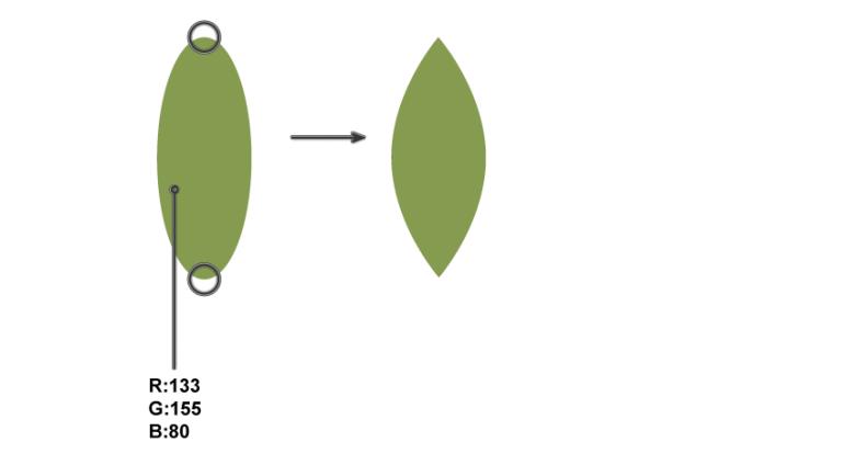 how to create the leaf shape
