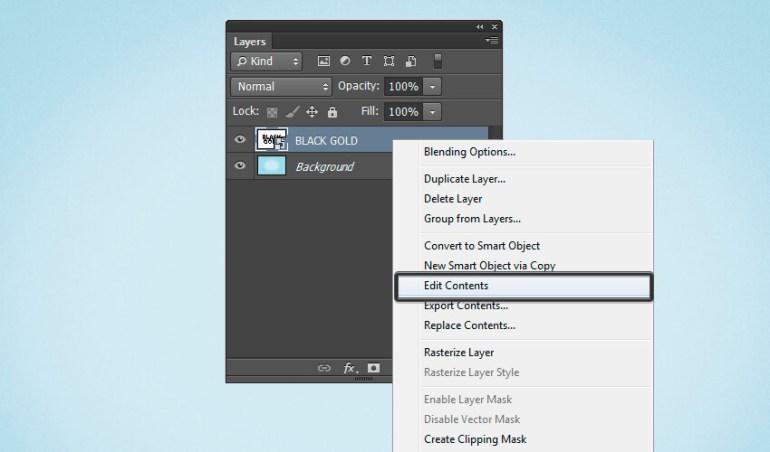 Edit smart object