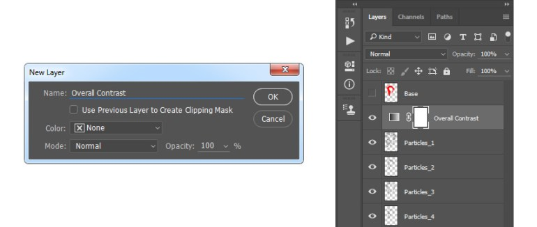 Creating the gradient map adjustment layer