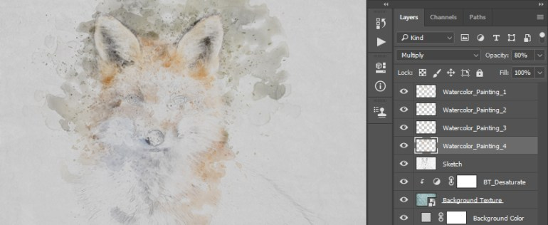 Creating more watercolor painting layers