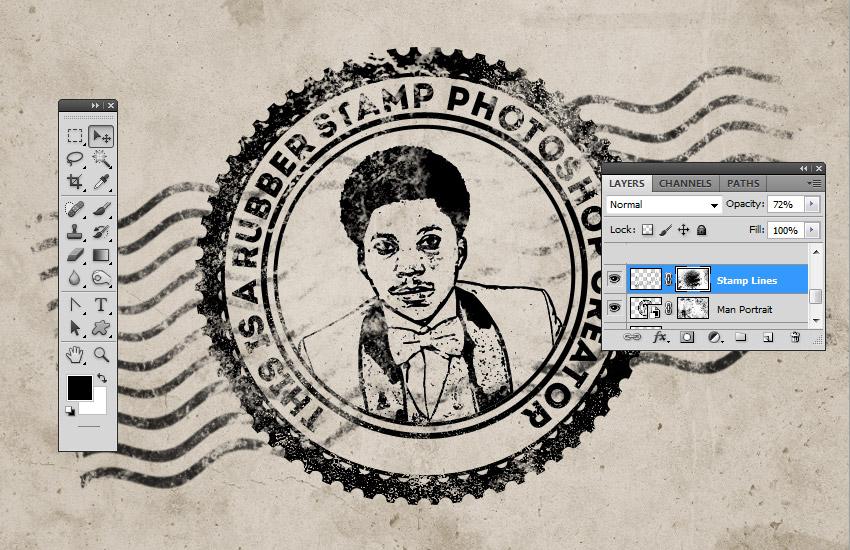 Stamp Line Photoshop Brushes