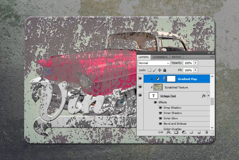 Add Gradient Map in Photoshop