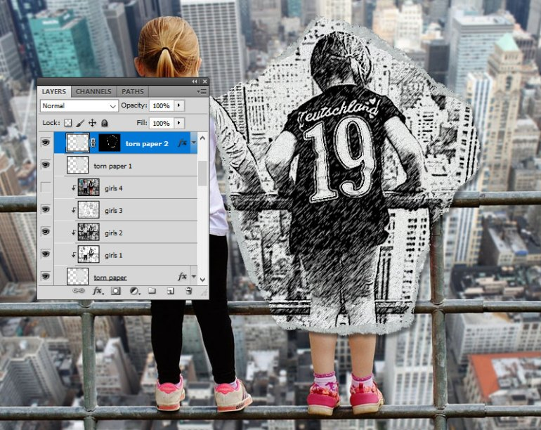 Torn Paper Effect in Photoshop