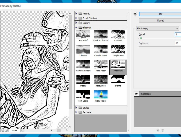 Photocopy Filter in Photoshop