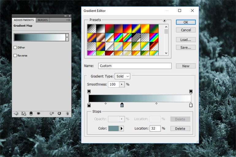 Change the Gradient Map Color Tones
