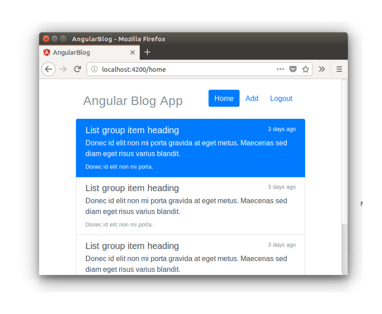 Angular Blog App - Show Post Component