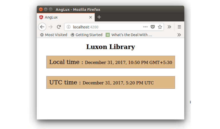 Luxon Library - Local Time  UTC Time