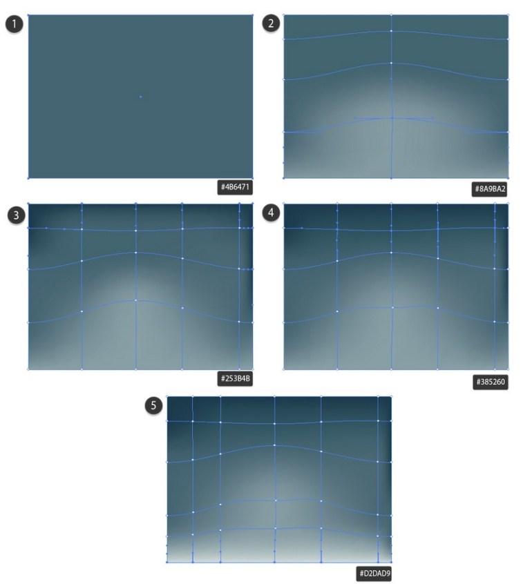 draw mesh background