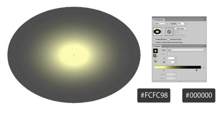 gradient highlight
