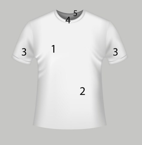 photo-realistic t-shirt mockup template