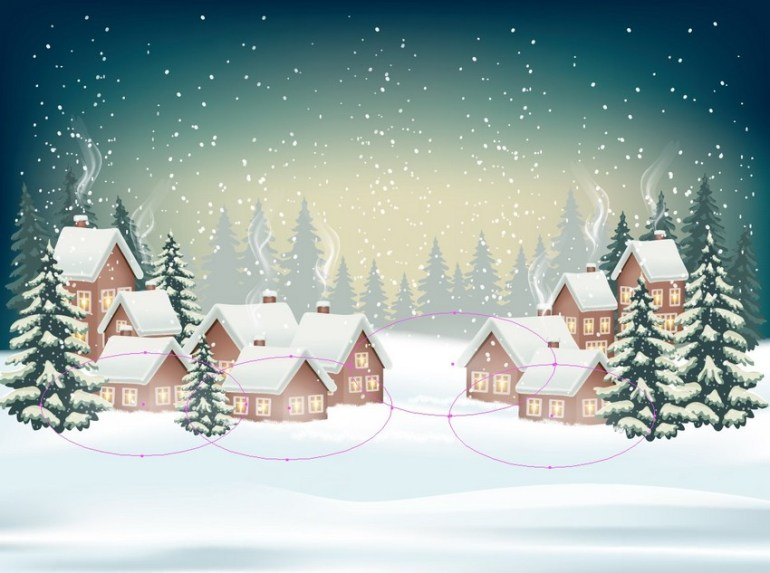 winter background design
