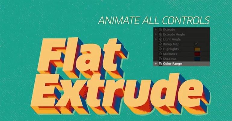Flat Extrude Preset