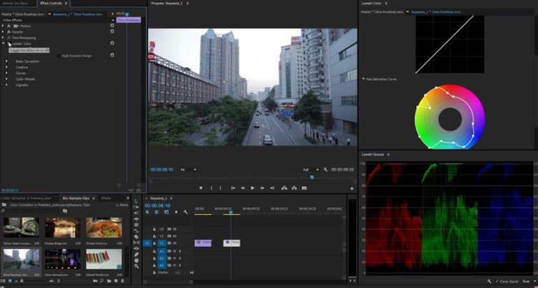 Adjust Saturation in Adobe Premiere