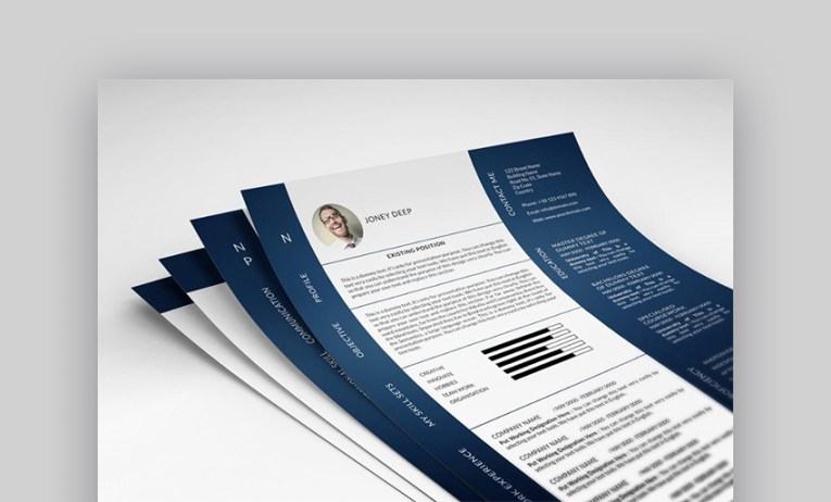18 Best Photoshop  PSD  Resume Templates  With Photo Formats  Photo resume template