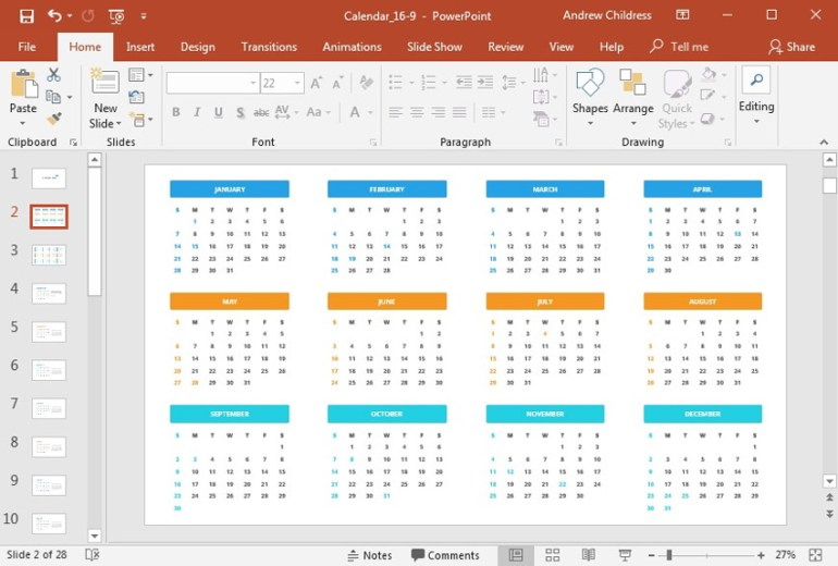 Key Dates Full Calendar Year PowerPoint Presentation