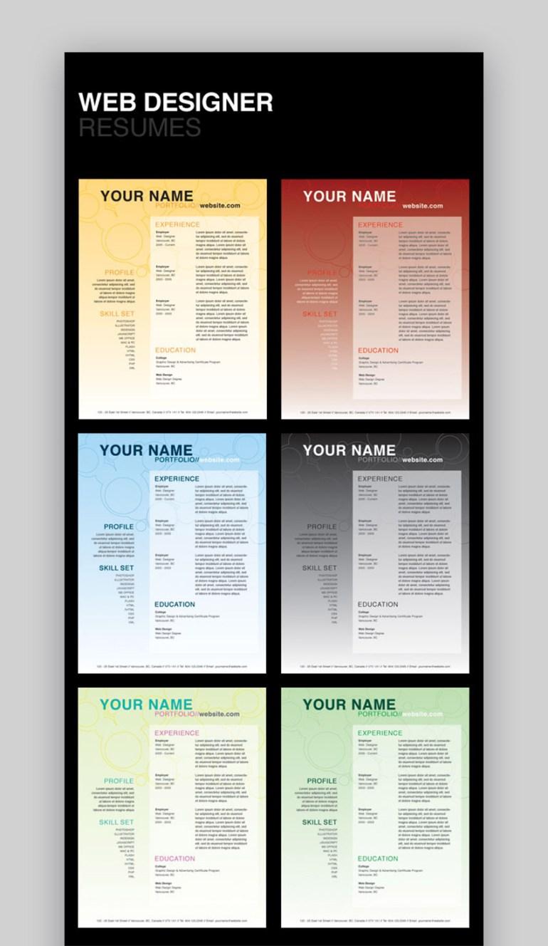 Web Designer Resumes