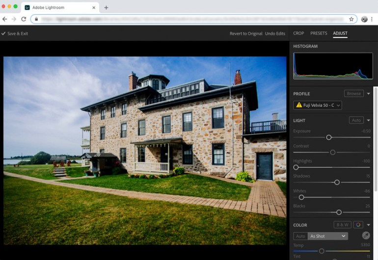 Lightroom in a web browser