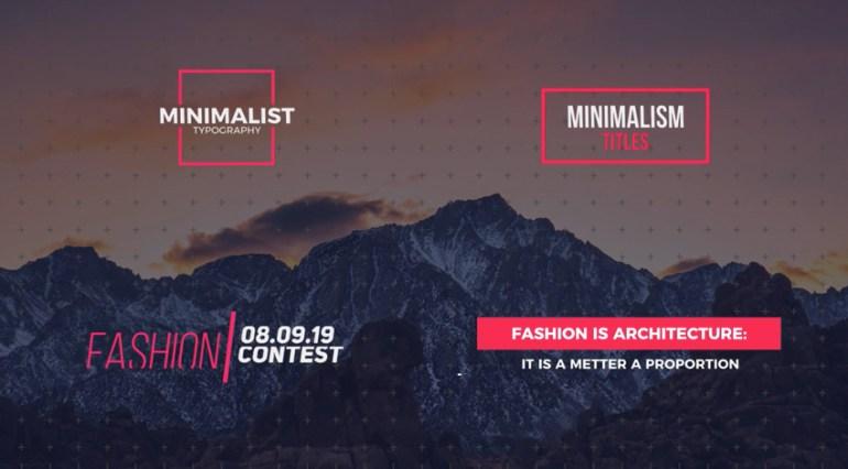 Modern minimalism Titles