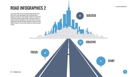 Google Slides kiat infografis