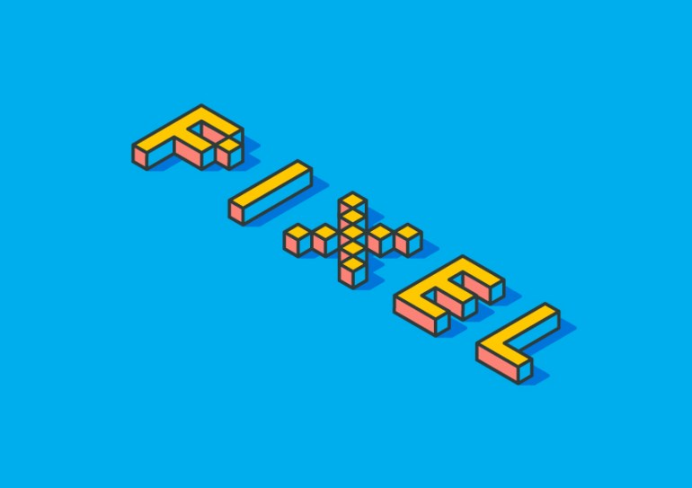 Isometric Pixel Text Effect Adobe Illustrator Tutorial