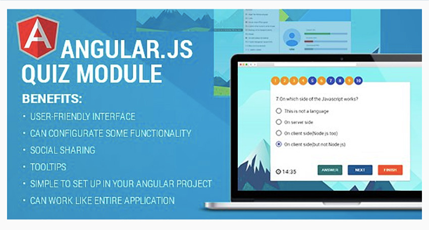 AngularJS Quiz Module