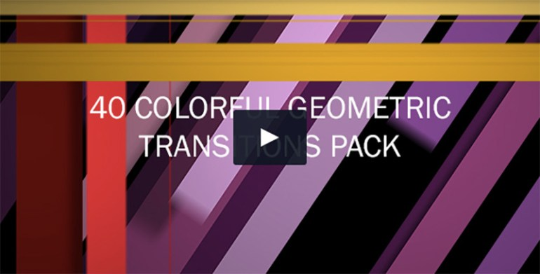 40 Colorful Geometric Transitions