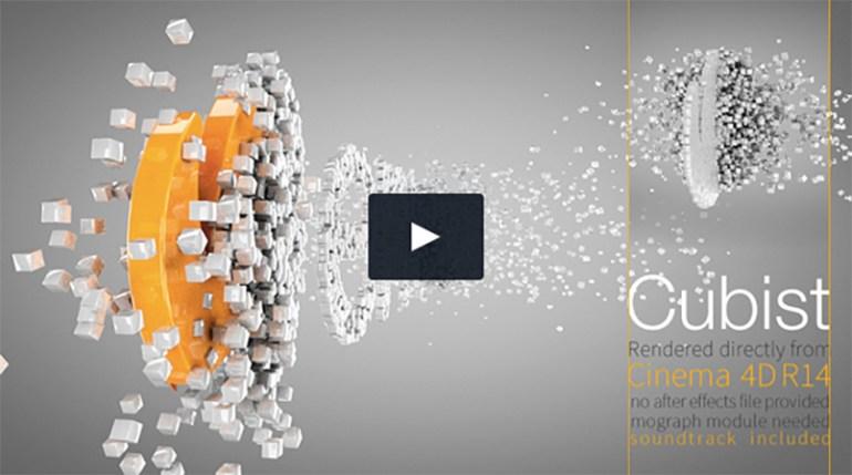 Cubist C4D Logo Animation