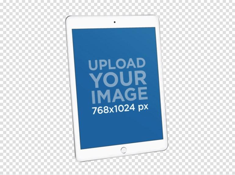 iPad Mockup Against a Transparent Backdrop