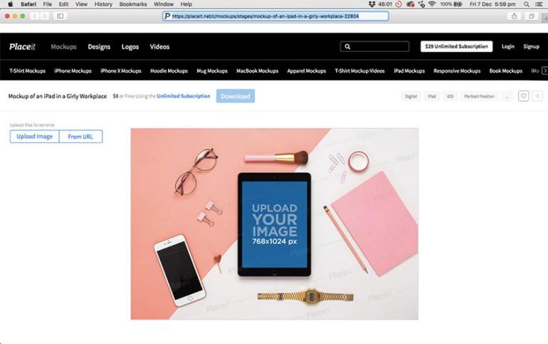 Select a Template You Like - iPad Mockup