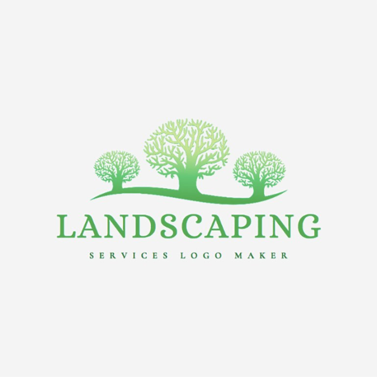 Landscaping Logo Maker with a Tree Icon