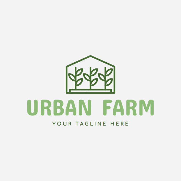 Urban Farm Logo Maker with Plant Images