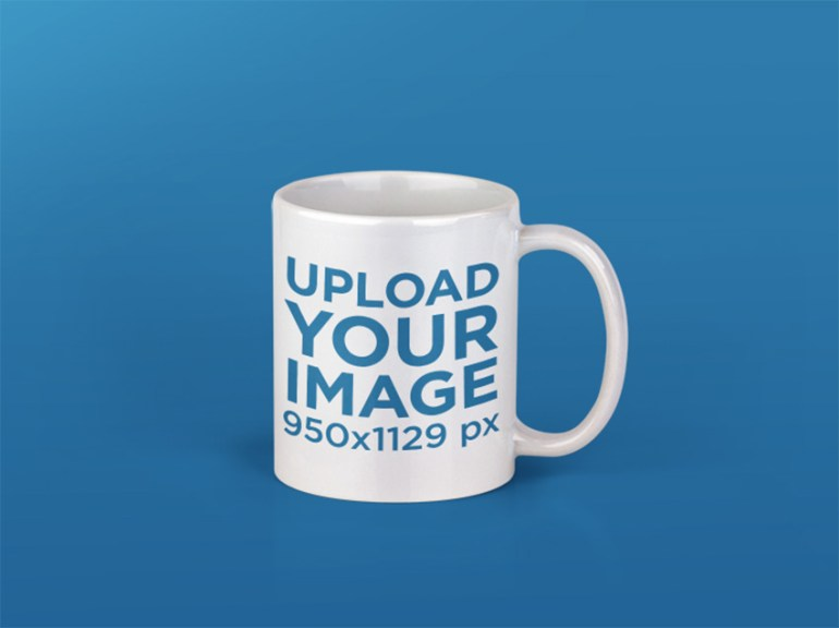 Coffee Mug Mockup Over a Transparent Background