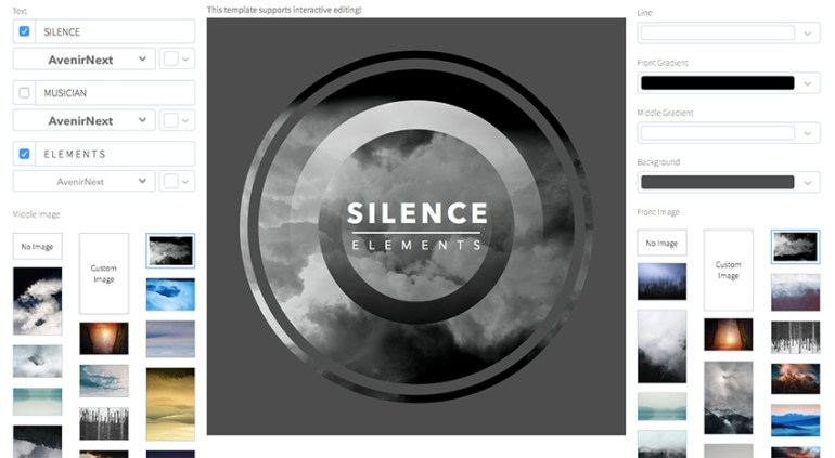 Minimalist Ambient Music Album Cover Template