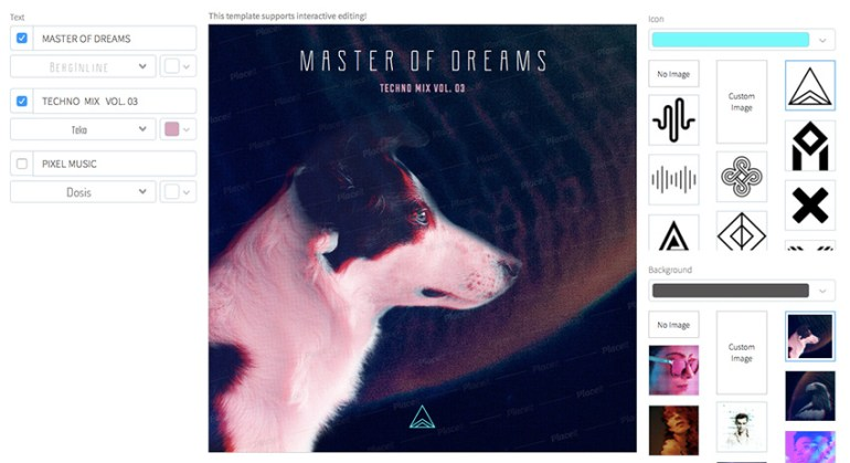 Techno Mix Album Cover Template