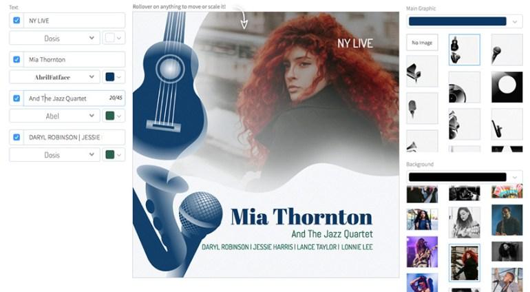 Live Jazz Music Album Cover Maker