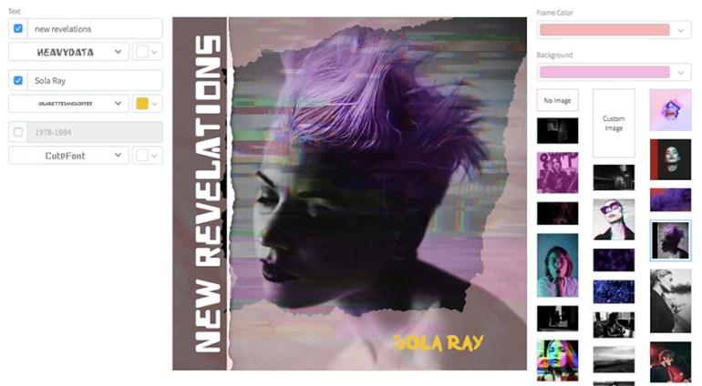 80s New Wave Album Cover Art Maker