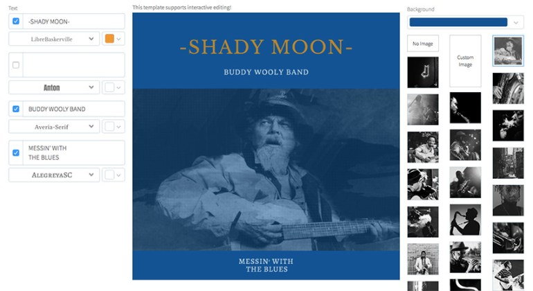 Album Cover Maker for Blues Band