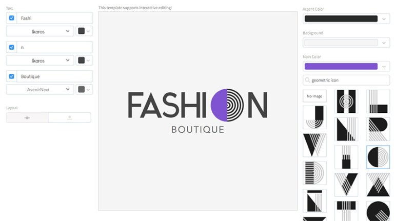 Online Logo Maker for Clothing Brands with Geometric Fonts