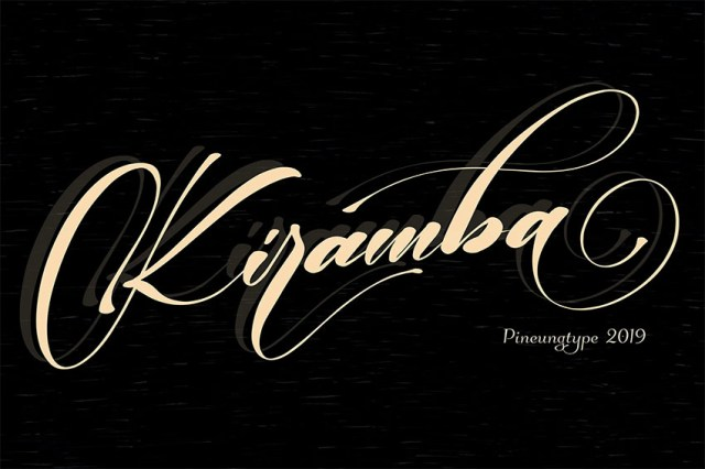 Phông chữ Kiramba Swash Flourish