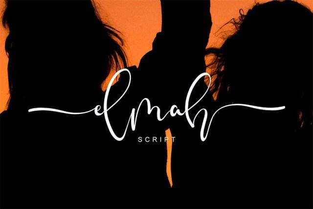 Phông chữ Elmah Script có đuôi