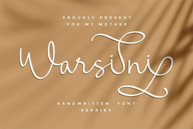 Phông chữ Warsini với Đuôi dài