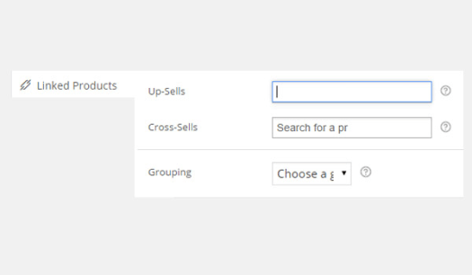 Linked Products tab options