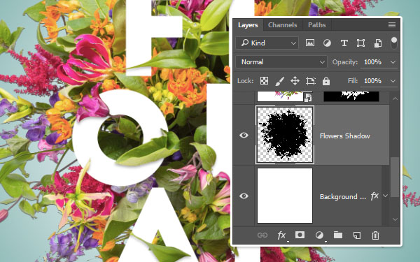 Create the Flowers Shadow Layer