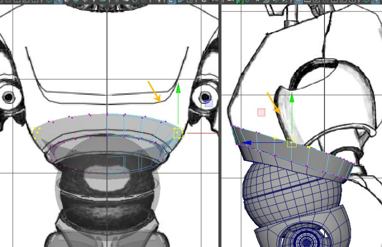 Adjust the vertices of the mesh