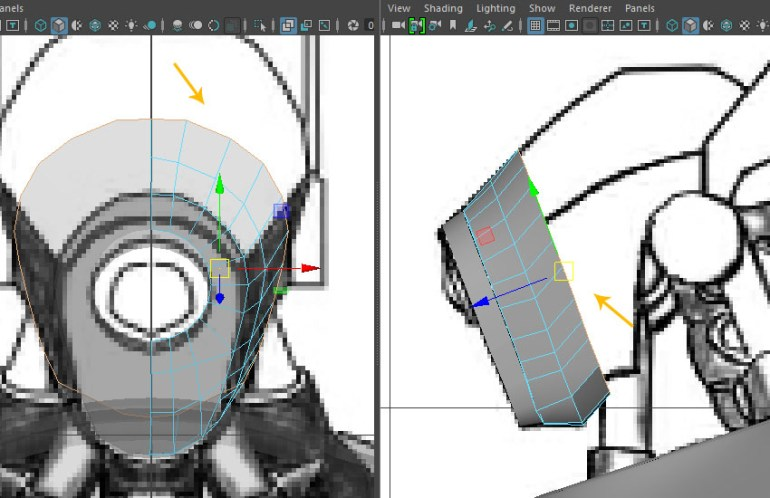 Extrude the same edge loop once more
