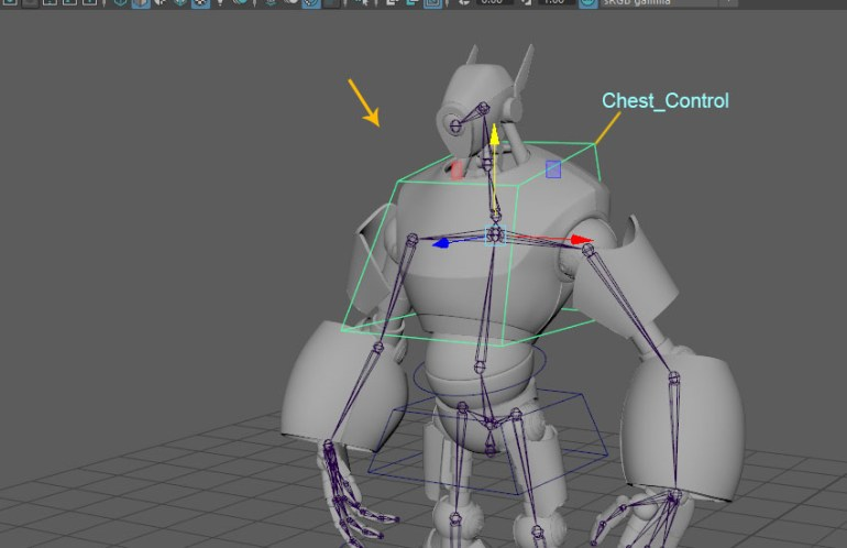 Edit the shape of the chest control curve
